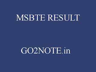 MSBTE RESULT WINTER 2018