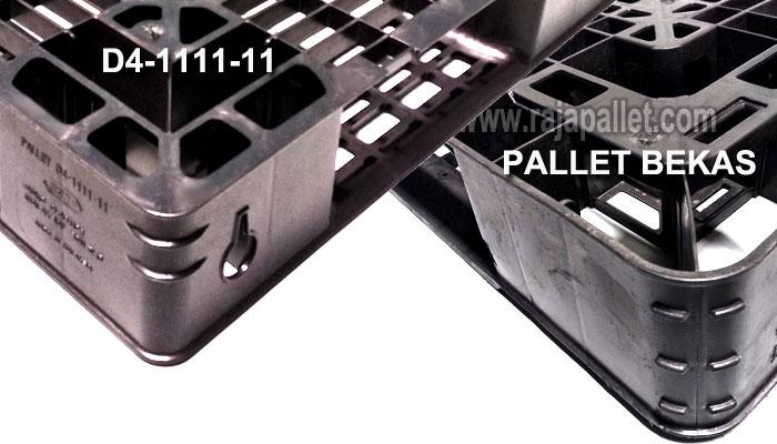 Pallet sanko D4-1111-11 vs pallet bekas 110 x 110 x12