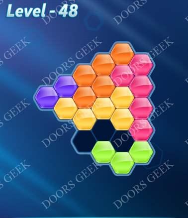 Block! Hexa Puzzle [Intermediate] Level 48 Solution, Cheats, Walkthrough for android, iphone, ipad, ipod