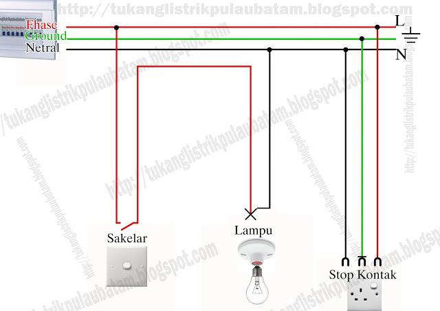 Memasang stop kontak dan fitting lampu-Tekhnik instalasi listrik