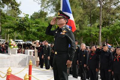 รอง หส.ผศ.น.ม.พร้อมด้วยพนักงาน ผศ.น.ม.ร่วมพิธีวางพวงมาลาเนื่องในวันสถาปนาหน่วยทหารพราน ณ ค่ายปักธงชัย จว.นครราชสีมา