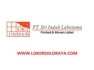 Lowongan Kerja Boyolali Bulan November 2020 di PT Sri Indah Labetama