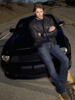 Alexa Havins' husband Justin Bruening posting for photo with car in the background