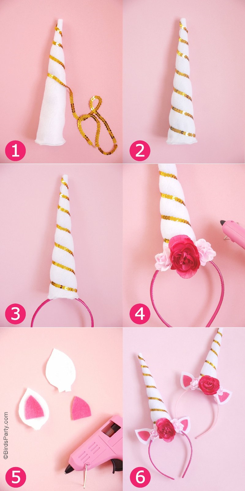 DIY Unicorn Party Headbands - Party Ideas | Party Printables
