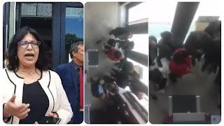 بالفيديو طرد عبير موسي بالقوة هيا و الامن الرئاسي من طرف المجلس