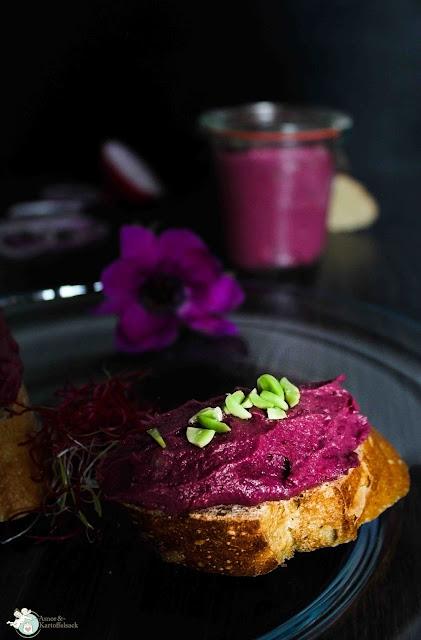 Kartoffelkäse lila Rezept