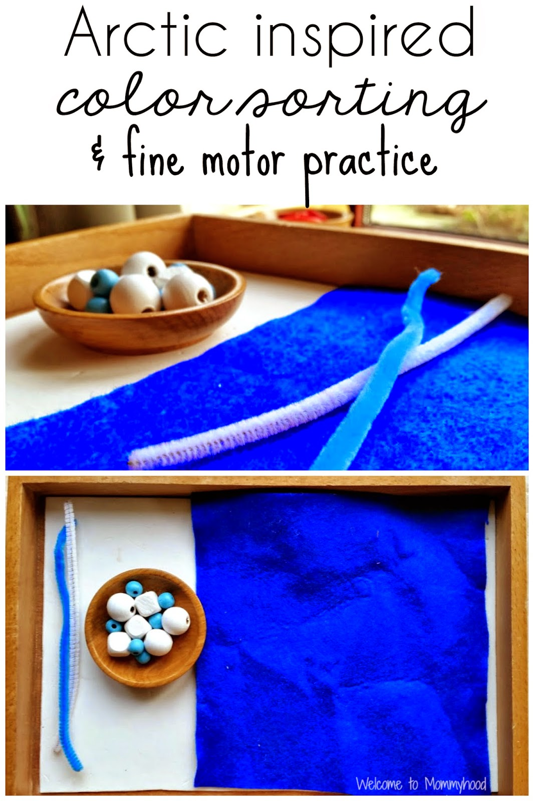 Preschool activities: Montessori inspired arctic unit and FREE printables {Welcome to Mommyhood} #montessori, #preschoolactivities, #freeprintables