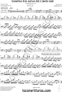 Violonchelo y Fagot Partitura de Comptine d'un autre été: L'aprés midi Sheet Music for Cello and Bassoon Music Scores