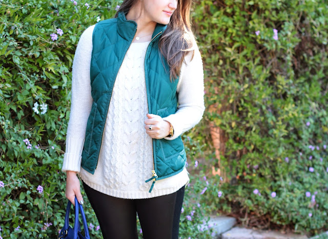 how to layer in winter, j crew layer vest, preppy, blogger, fashion blogger