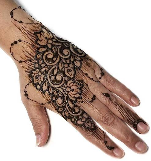 Arabic Mehndi Design for back hand