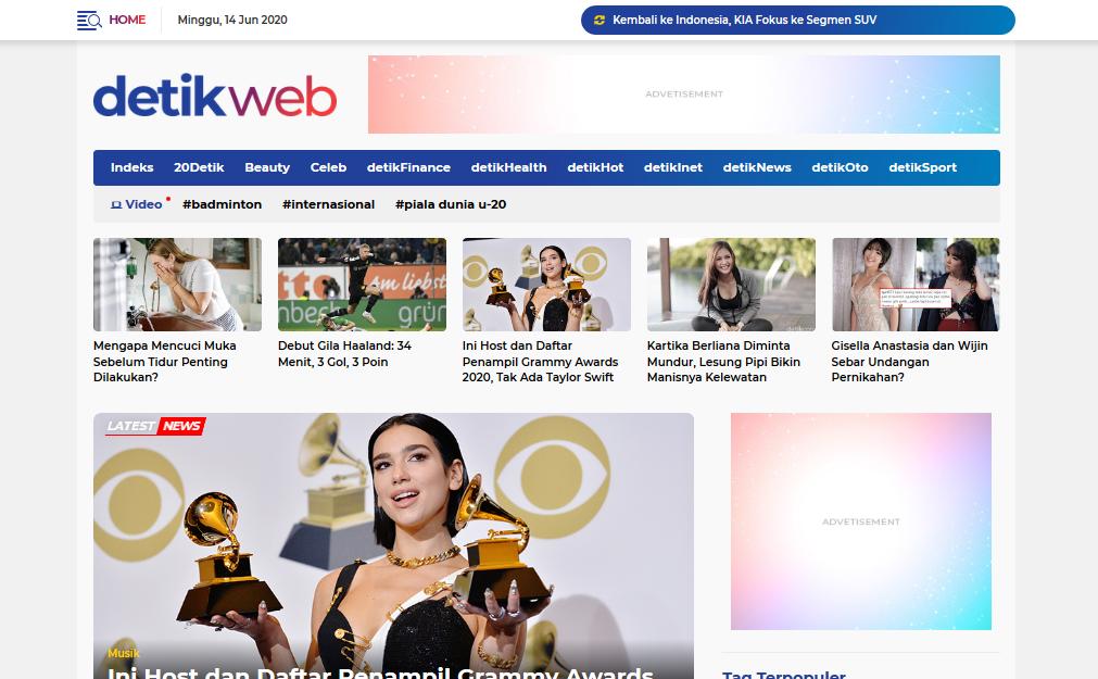 Detikweb Professional Blogger News & Magazine Theme