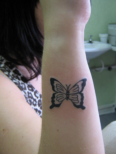 Pinkbizarre Small Butterfly Tattoos On Wrist
