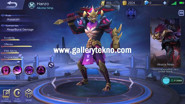 Tanggal Rilis Hero Hanzo di Server Ori Mobile Legends