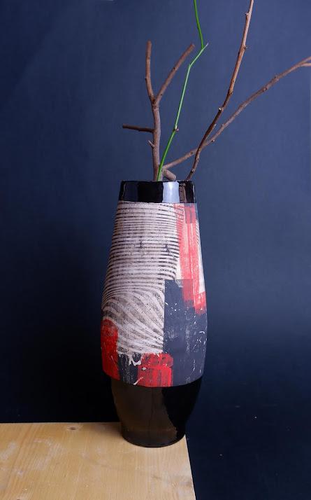 vaso ceramica fatta a mano roma