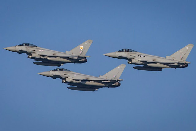 RAF Typhoons display Qatar