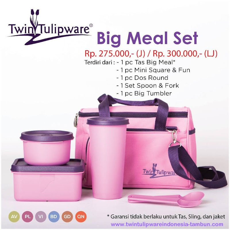 Big Meal Set - Katalog 2017 Twin Tulipware