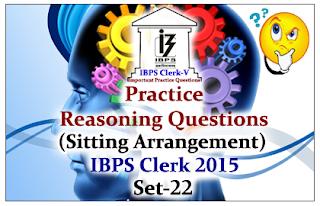 Practice Reasoning Questions (Sitting Arrangements)