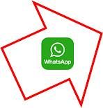 logo de WhatsApp en una flecha que apunta salida