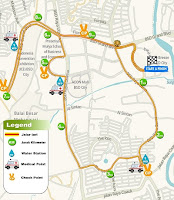 Rute 10K Pertamina Eco Run 2016 Tangerang the breeze bsd city bumi serpong damai