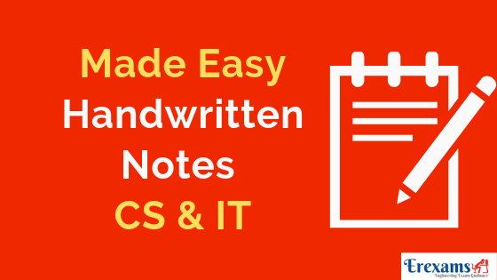 Made Easy Handwritten Notes for CS & IT Branch Pdf Free Download