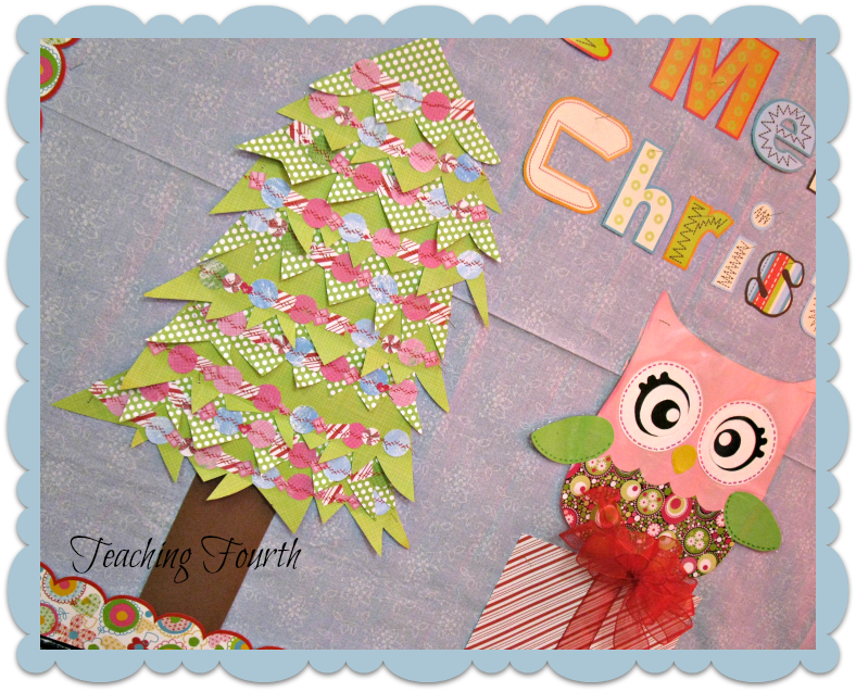Christmas Decoration For Board : Teaching fourth owl themed christmas bulletin board and