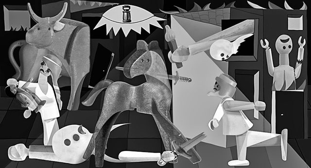 Cuadro-Guernica-de-Pablo-Picasso-Hecho-con-Playmobil