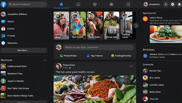 التصميم الجديد للفيس بوك تصميم فيسبوك الجديد تصميم فيسبوك جديد