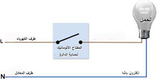 دائرة مصباح كهربائي بسيطة