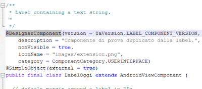 Creare nuovo componente (Mit App Inventor 2)