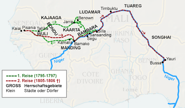 Trasa podróży po Afryce Mungo Parka