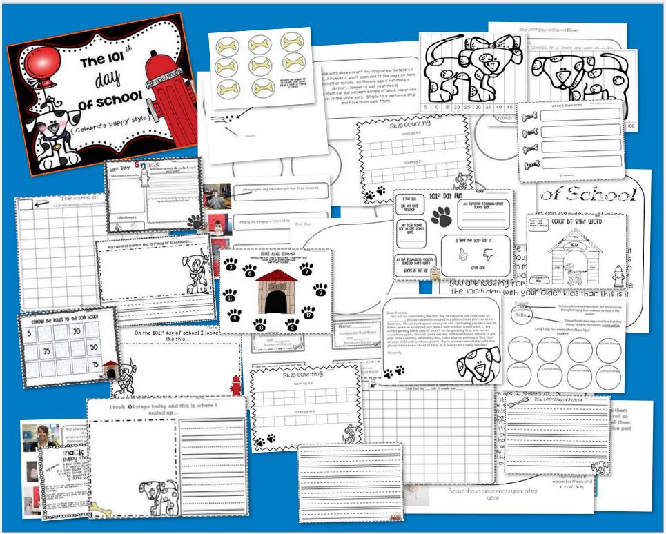 http://www.teacherspayteachers.com/Product/101st-day-of-school-dalmation-fun--267220