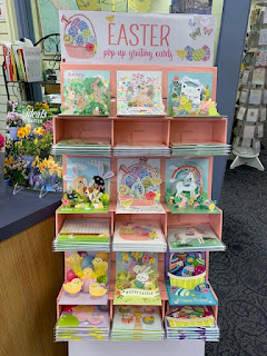 pastel pop-up Easter cards at Book People in Sioux City