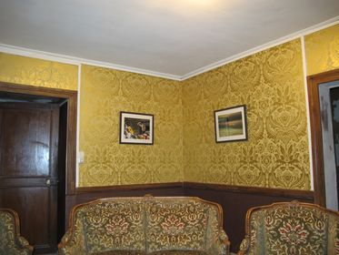 Snug, French decorating, manoir renovations, sympathetic restoration