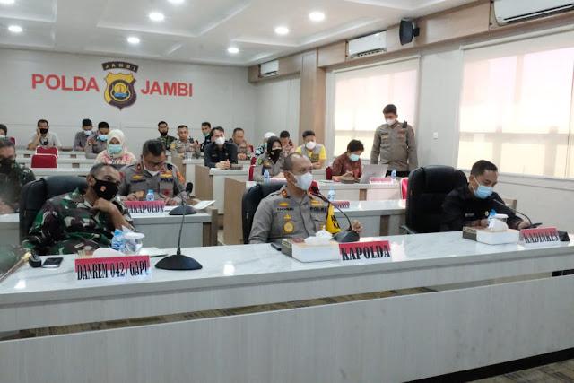 Kapolda Jambi Pimpin Rapat Koordinasi di Gedung Mapolda Jambi