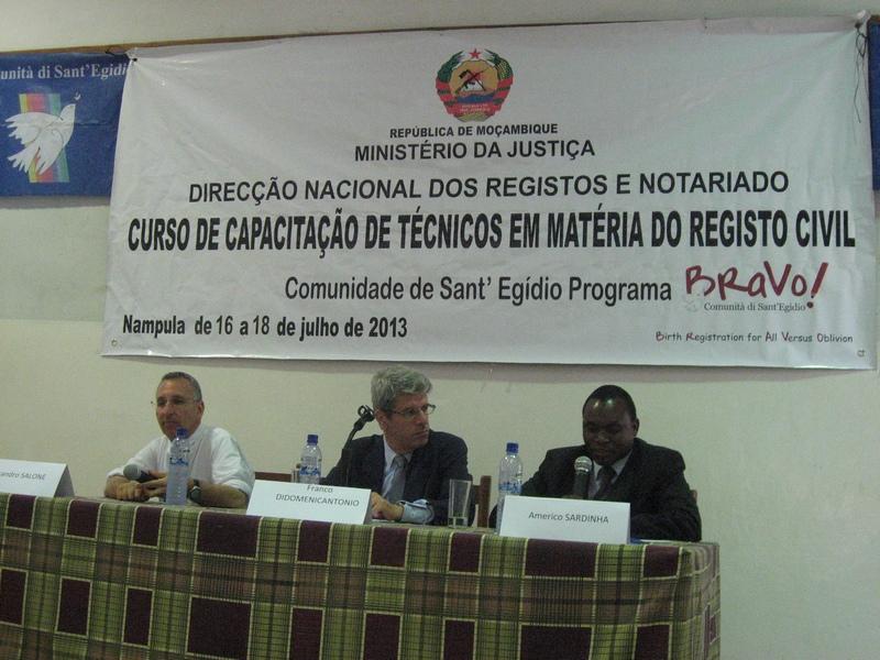 Comunity of Sant'Egidio: Training courses on civil registration (Nampula)