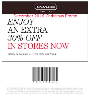 Coach coupons for december 2016