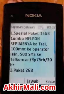 special paket 15GB combo NELPON SEPUASNYA ke tsel, 100 menit ke operator lain, 500 SMS ke telkomsel/Rp 75ribu/30 hari