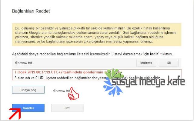 Google Disavow Dosyası Nasıl Gönderilir