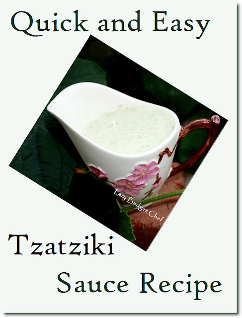 easy tzatziki dip dressing sauce recipe