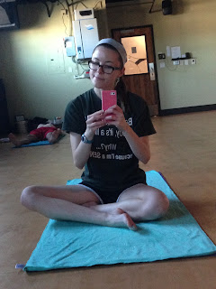 casey the college celiac, hot yoga