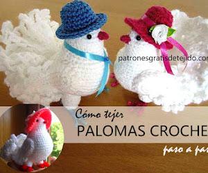 Cómo tejer palomas a crochet | Paso a paso con video