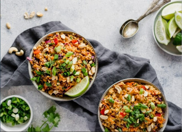 Thai Veggie Quinoa Bowl #vegan #healthy
