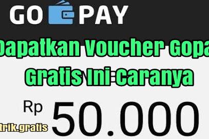 Voucher Gopay 50000 Rupiah Gratis Dari Gojek Gopay