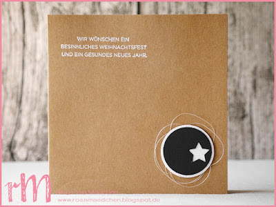 Stampin' Up! rosa Mädchen Kulmbach: Weihnachtskarten in schwarz weiß mit Sternen, Weihnachten daheim und Festliche Fäustlinge