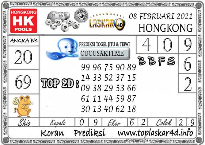 Prediksi Togel HONGKONG LASKAR4D 08 FEBRUARI 2021