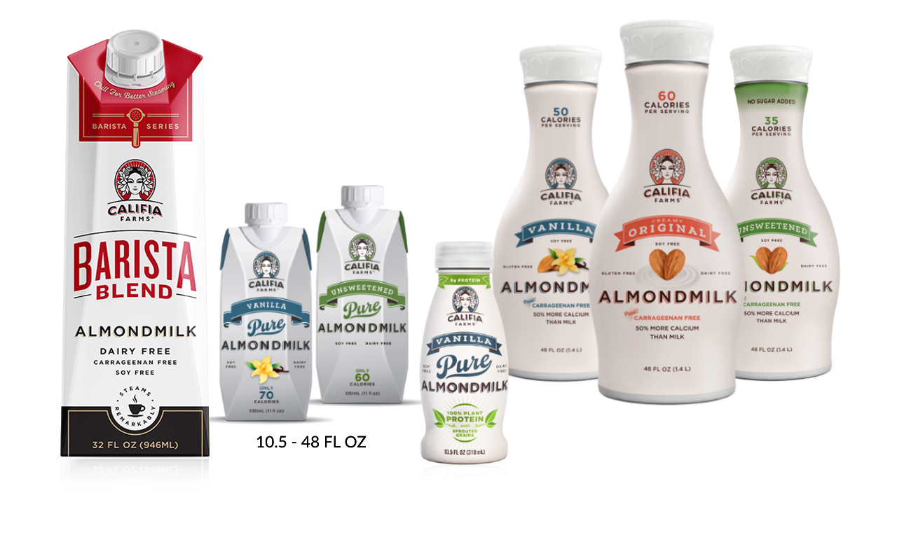 Califia Farms Barista Blend Dairy Free Almondmilk Size Assortment