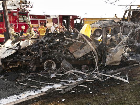 visalia vehicle crash transport van christopher nelson caldwell parked dump truck