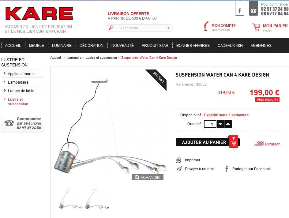 ventes privees sur internet kare design vente priv e. Black Bedroom Furniture Sets. Home Design Ideas