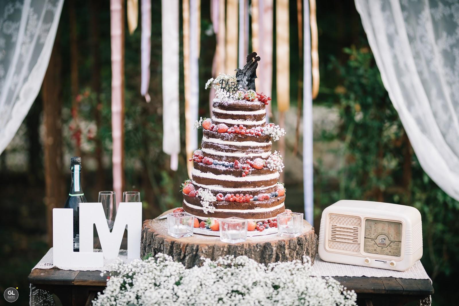 Idee per torta nuziale in stile rustico
