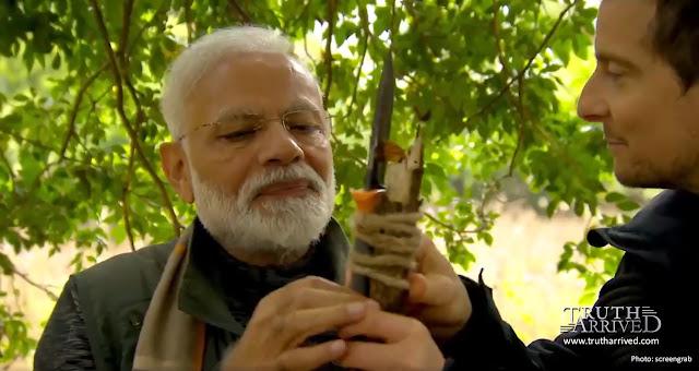 मैन वर्सेस वाइल्ड में बेयर ग्रिल्स के साथ पीएम नरेंद्र मोदी - Truth Arrived Hindi